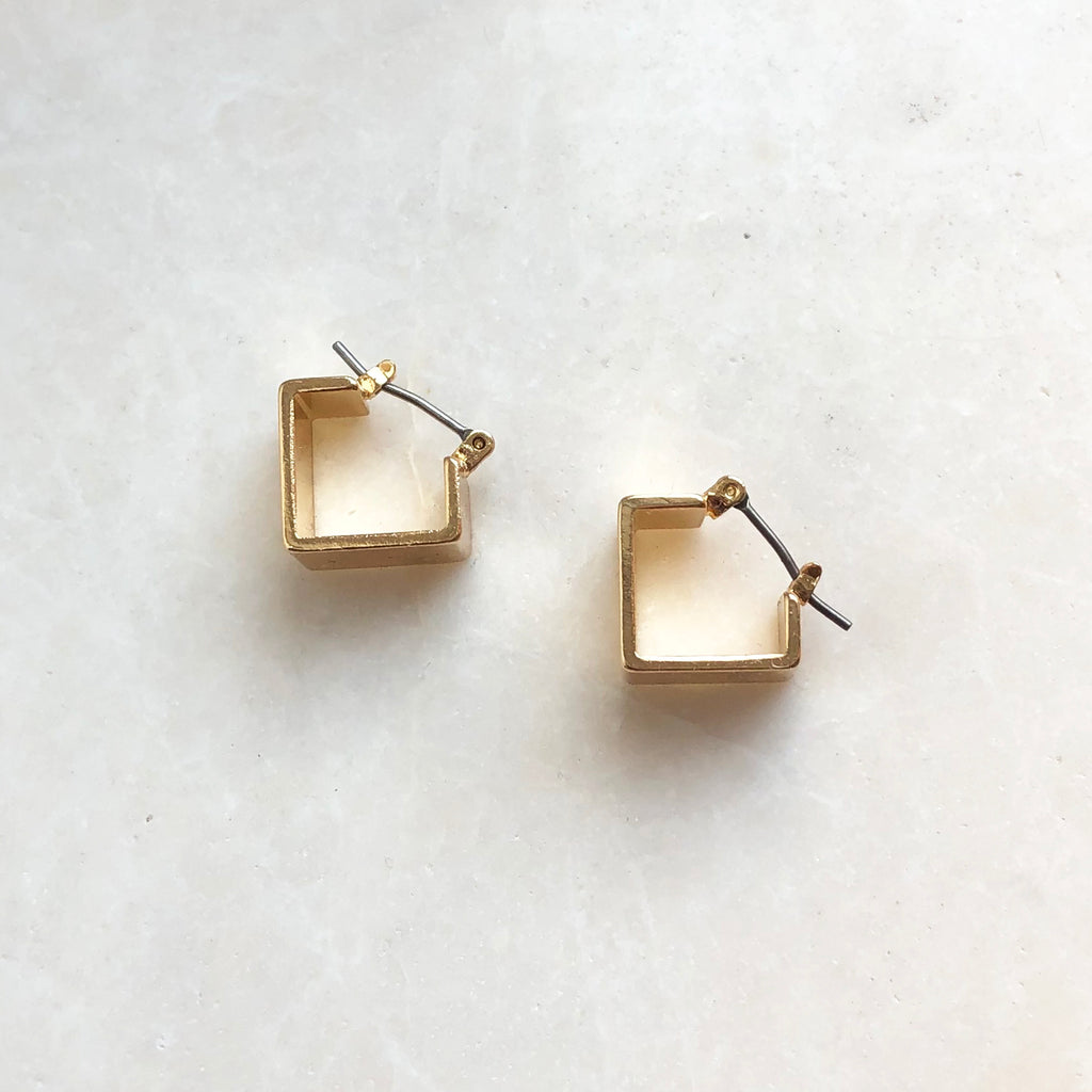 Square Hoop Earrings - Grecia
