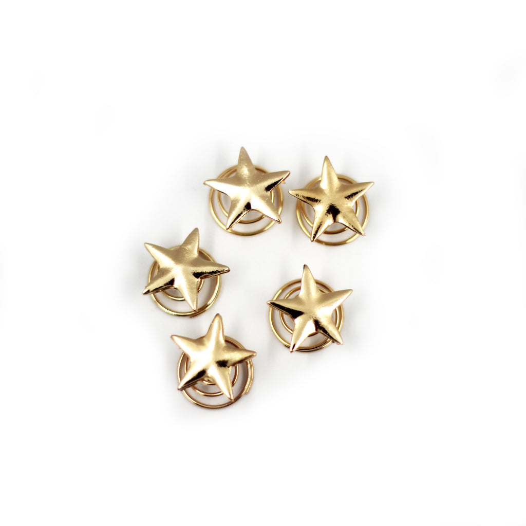 Gold Star Hair Pins (5 Pack)