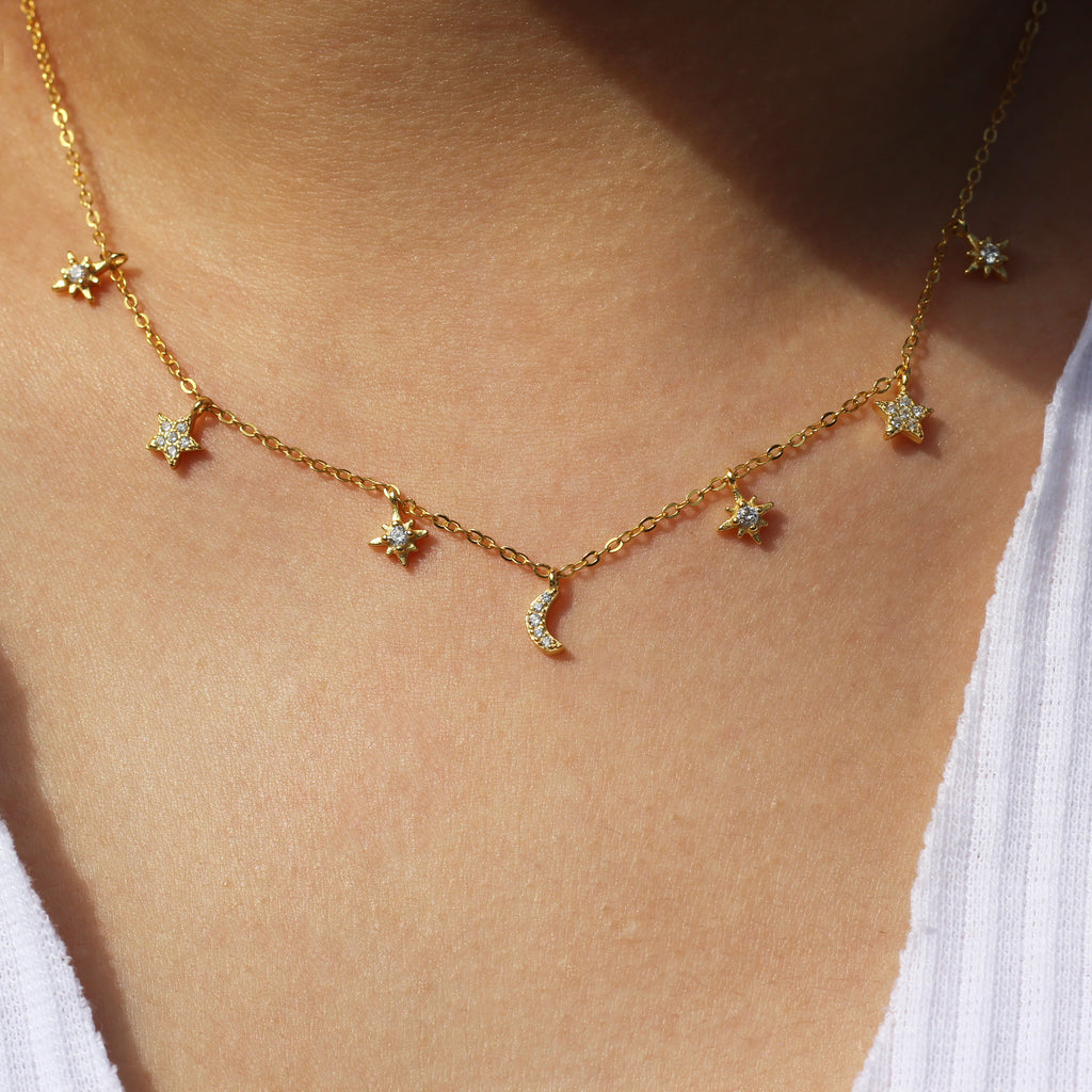 Gold Stargazing Necklace Mei Mi Studio