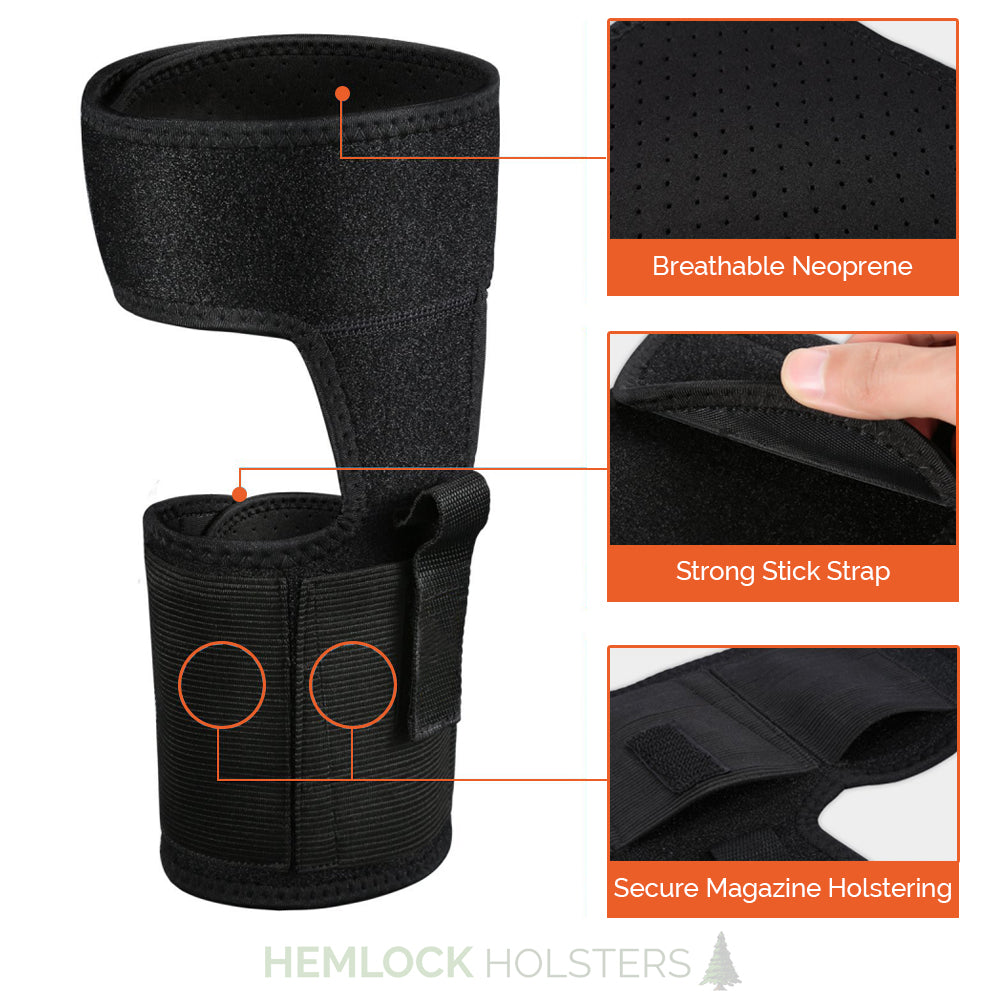 Concealed Ankle Holster for Small to Medium Handguns