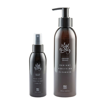 ORGANIC RADIANT PURIFYING CLEANSER & ORGANIC RADIANT SOOTHING TONIC 2'Lİ SET - Bold&Goodly