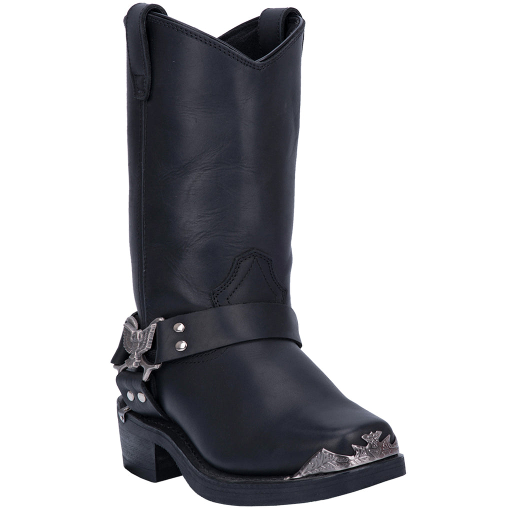Angle 1, CHOPPER LEATHER HARNESS BOOT