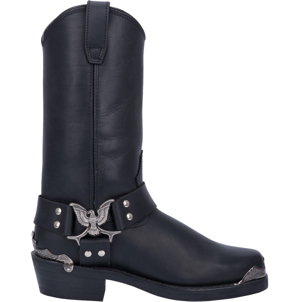Angle 2, CHOPPER LEATHER HARNESS BOOT