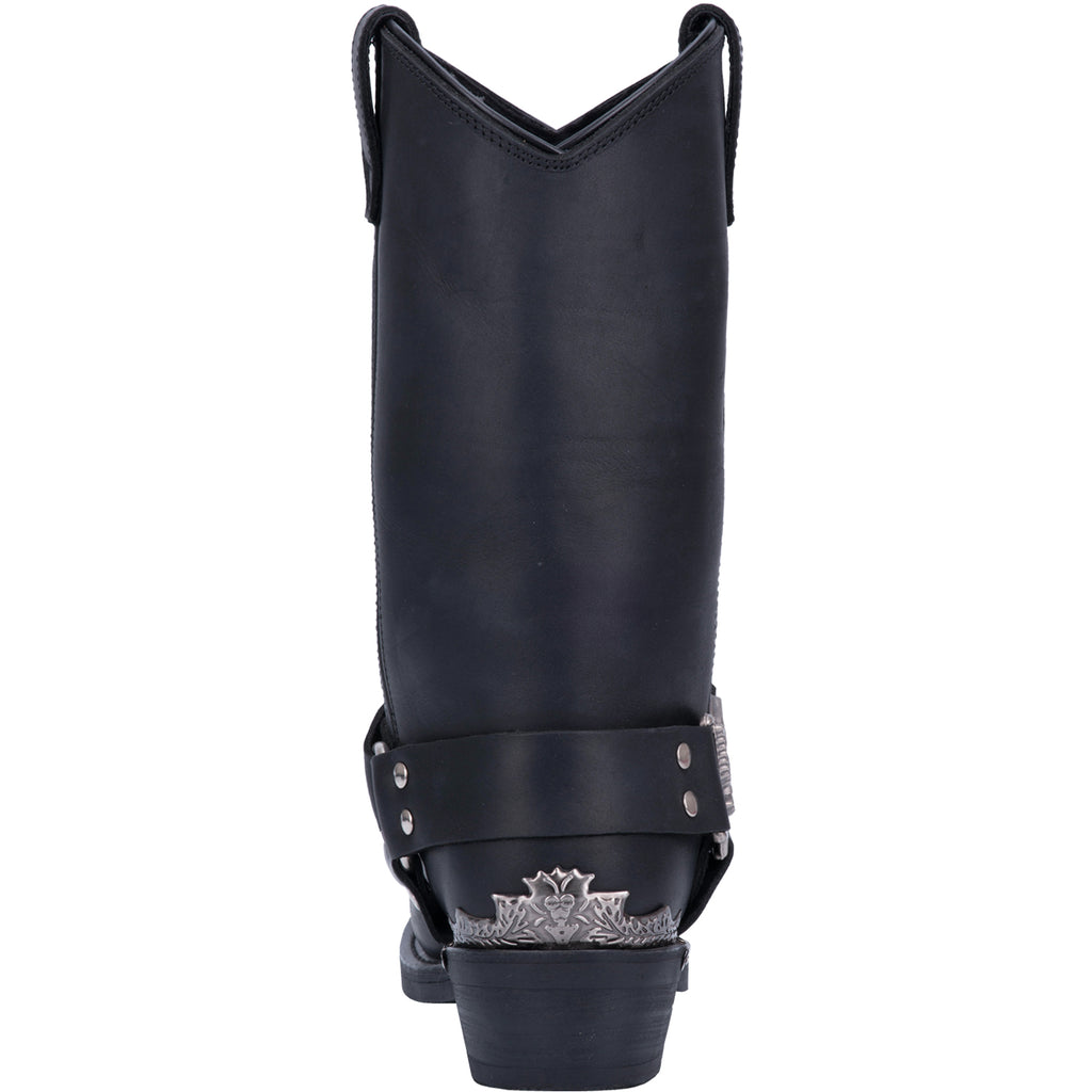 Angle 4, CHOPPER LEATHER HARNESS BOOT