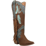 #DREAM CATCHER LEATHER BOOT - Dingo 1969