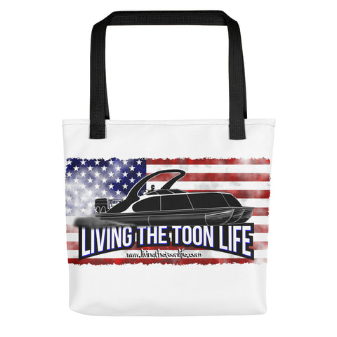 Living The Toon Life Tote bag - Grunge/Flag/Shadow Pontoon