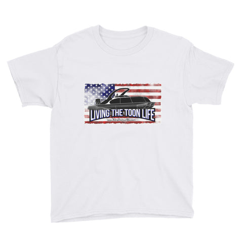 Youth Short Sleeve T-Shirt - Grunge/Flag/Shadow Pontoon