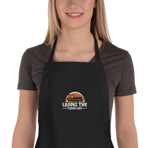 Living The Toon Life Embroidered Apron - OG Toon Life Logo