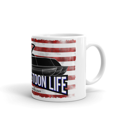 Living The Toon Life Mug - Grunge USA/Flag/Shadow Pontoon