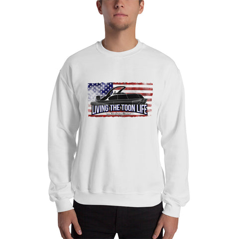 Living The Toon Life Sweatshirt - Grunge/Flag/Shadow Pontoon