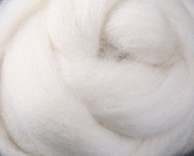 Natural White Corriedale Wool Roving Undyed