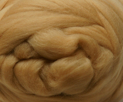 Extra Fine Merino Roving 19 Microns One Ounce Dune