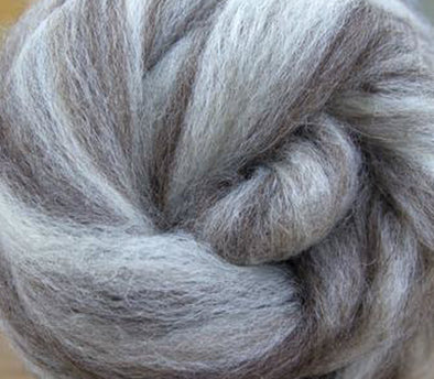 Mixed Bluefaced Leicester Wool Roving Undyed