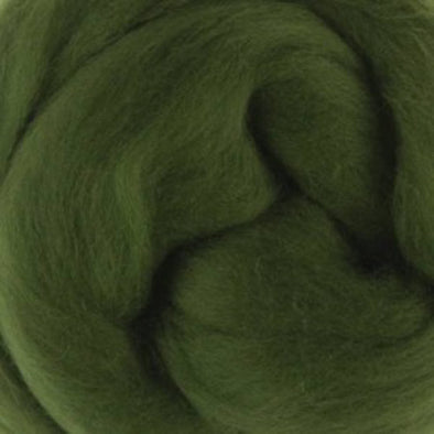 Extra Fine Merino Roving 19 Microns One Ounce Ivy
