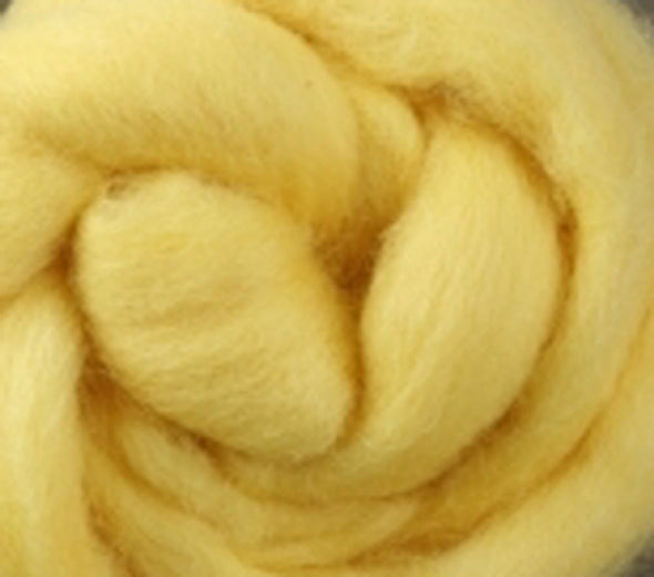Lemon Corriedale Wool Roving