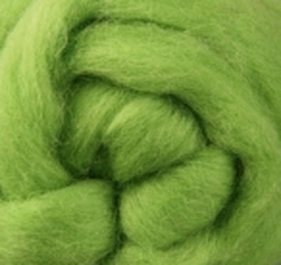 Lime  Corriedale Wool Roving