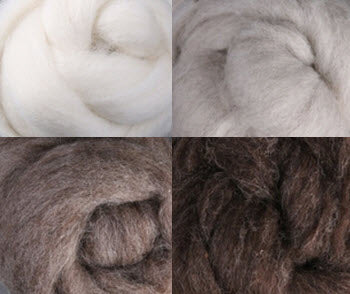 Natural Undyed Corriedale Collection