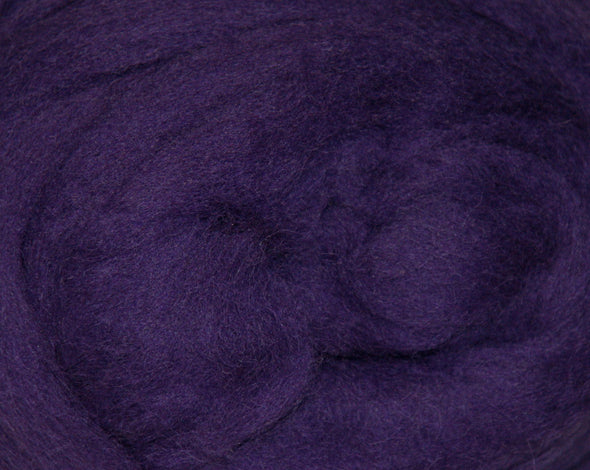 Purple Corriedale Wool Roving