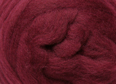Raspberry Corriedale Wool Roving