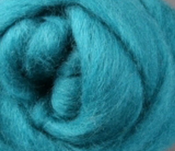 Teal Corriedale Wool Roving