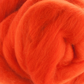 Extra Fine Merino Roving 19 Microns One Ounce Orange