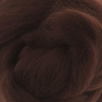 Extra Fine Merino Roving 19 Microns One Ounce Chocolate