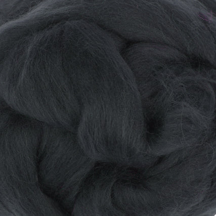 Extra Fine Merino Roving 19 Microns One Ounce Graphite