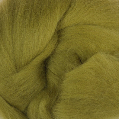 Extra Fine Merino Roving 19 Microns One Ounce Olive