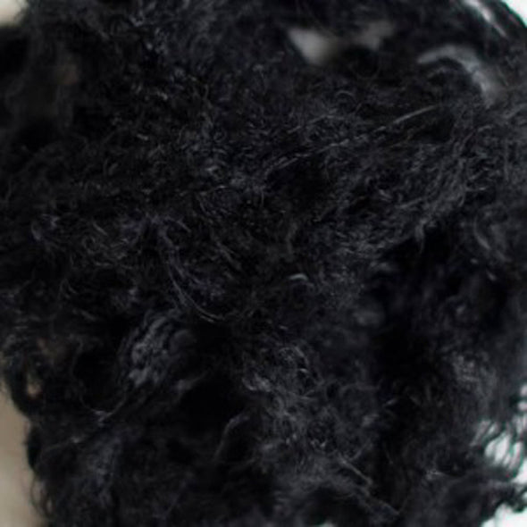 Black Recycled Sari Silk Waste