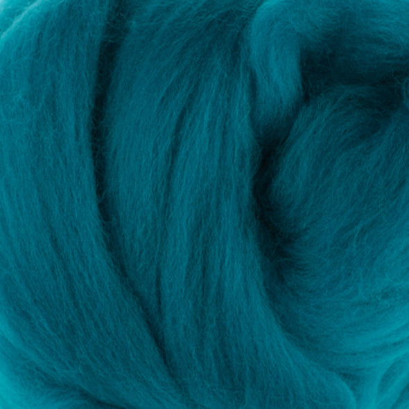 Extra Fine Merino Roving 19 Microns One Ounce Cobalt