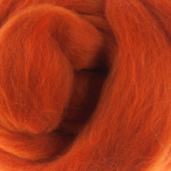 Extra Fine Merino Roving 19 Microns One Ounce Pumpkin