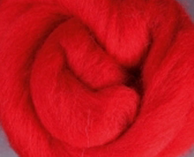 Red Corriedale Wool Roving