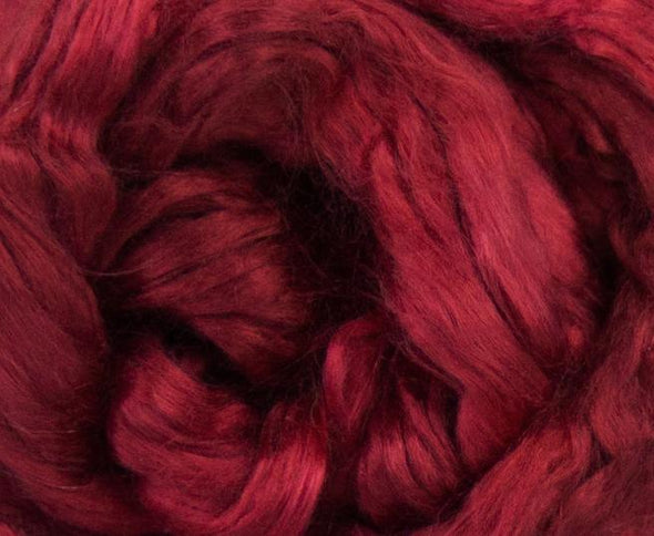 Ruby Red Mulberry Silk