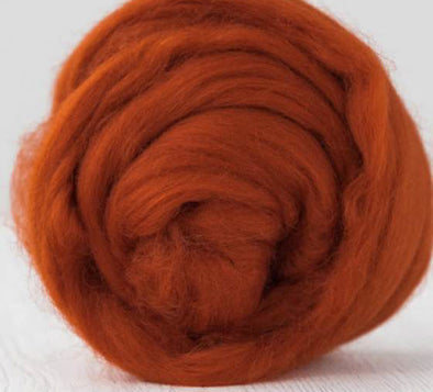 Extra Fine Merino Roving 19 Microns One Ounce Rust