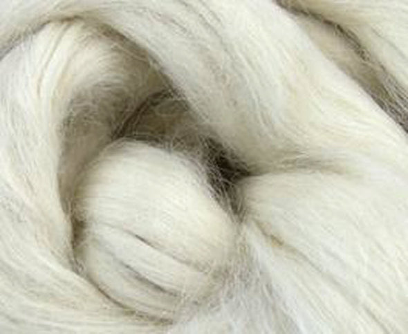 Suri White Alpaca Two Ounces