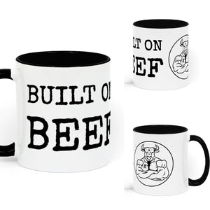 BUILT ON BEEF Two Tone Mug