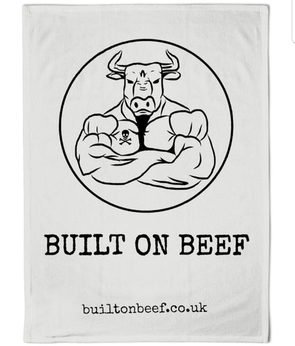 BUILT ON BEEF Gym Towel
