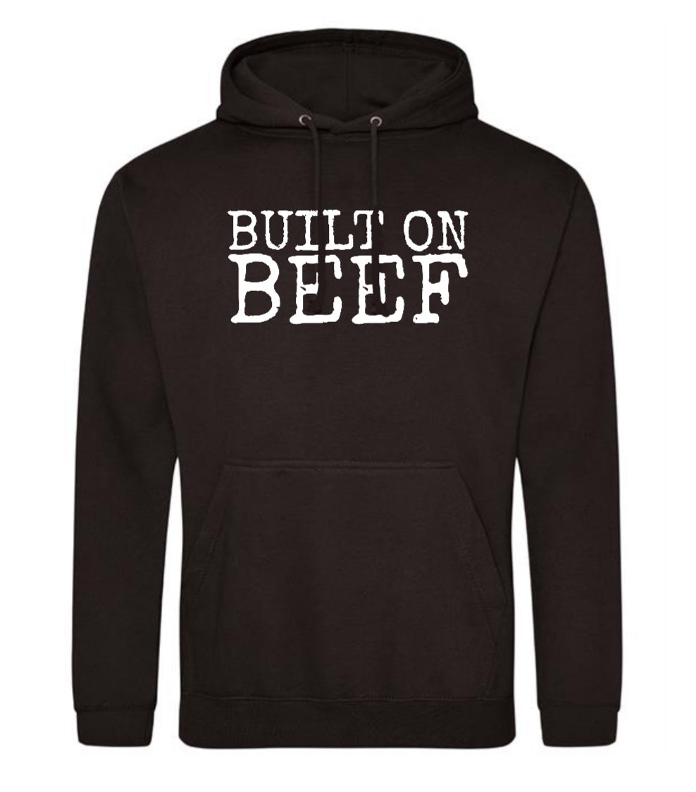 BUILT ON BEEF - Pull over hoodie - Black