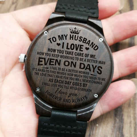Engraved Watch For Husband