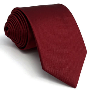Classic Red Silk Necktie and Matching Pocket Square - Fancier Living