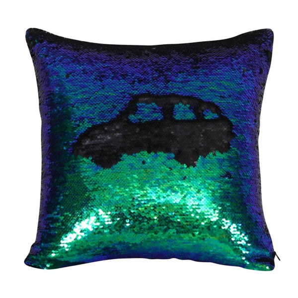 Reversible Sequin Cushion Cover