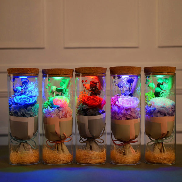 Romantic Light Up Bouquet Jar