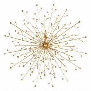 Gold Starburst Abstract Modern Wall Art - Fancier Living