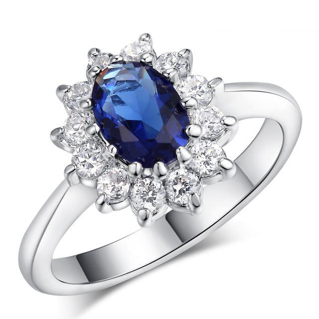 Royal Blue Sapphire Fashion Ring - Fancier Living