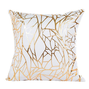 Abstract Gold Decorative Cushion Cover - Fancier Living
