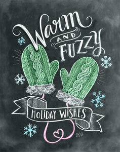 """Warm & Fuzzy"" Blackboard Diamond Art Kit - Fancier Living"
