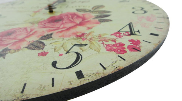 Romantic Rose Vintage Style Wall Clock