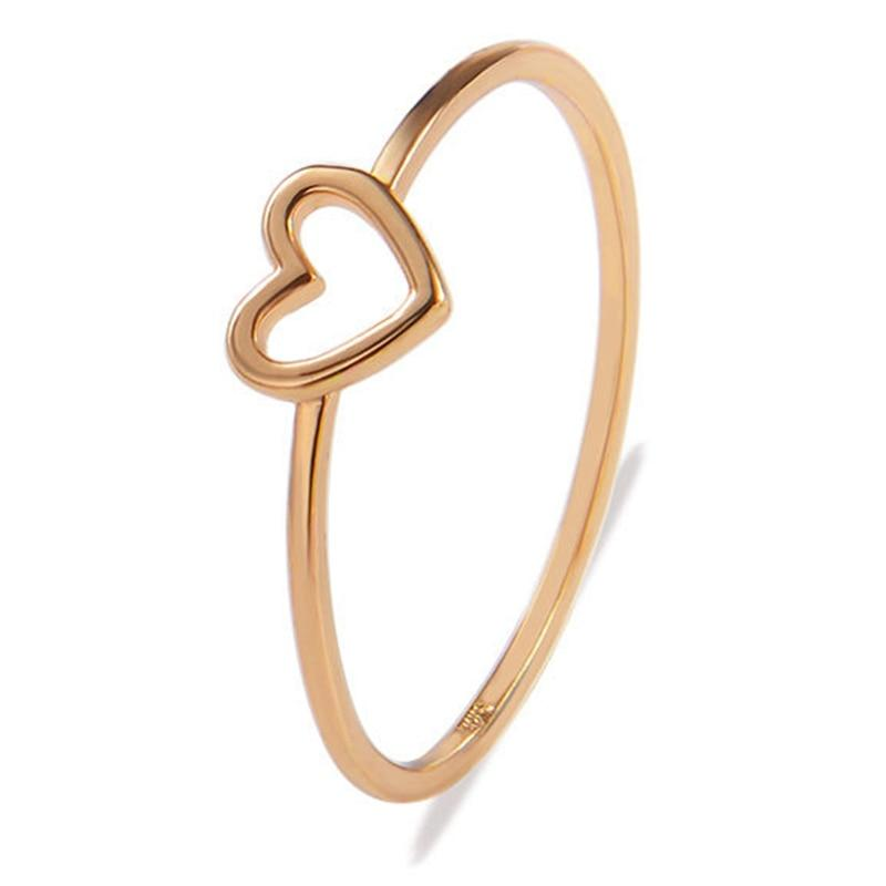 """Only Love"" Minimalist Heart Ring"