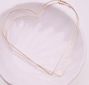 Jumbo Sized Heart Hoop Earrings