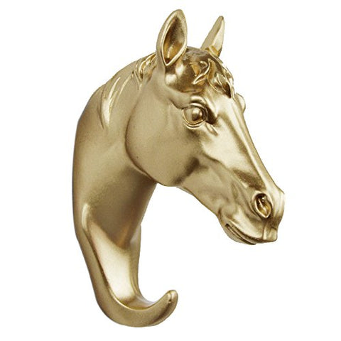 Gold Horse Head Decorative Wall Hook - Fancier Living